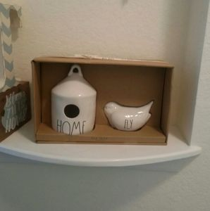 Rae Dunn Round Birdhouse HOME and Bird FLY
